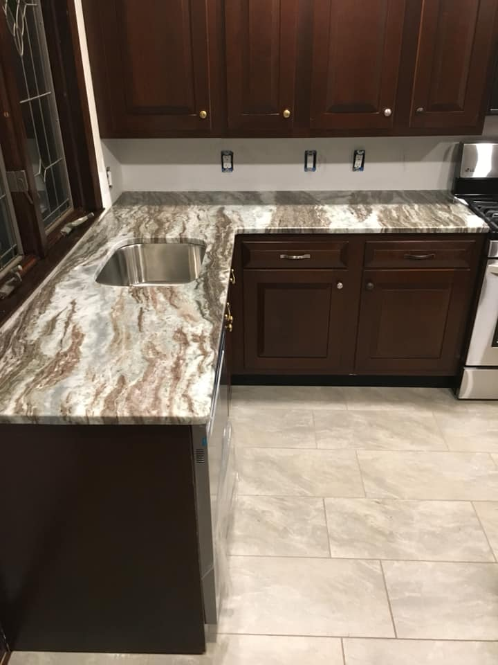 fantacy Brown kitchen - Long Island NY Quartz and Granite Long Island