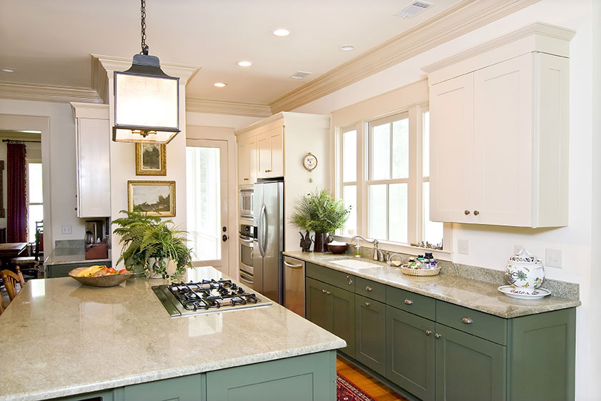 granite countertops green cabinets - Long Island NY Quartz and Granite Long Island